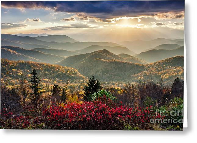 Crepuscular Rays Greeting Cards - Heavens Gate Greeting Card by Anthony Heflin