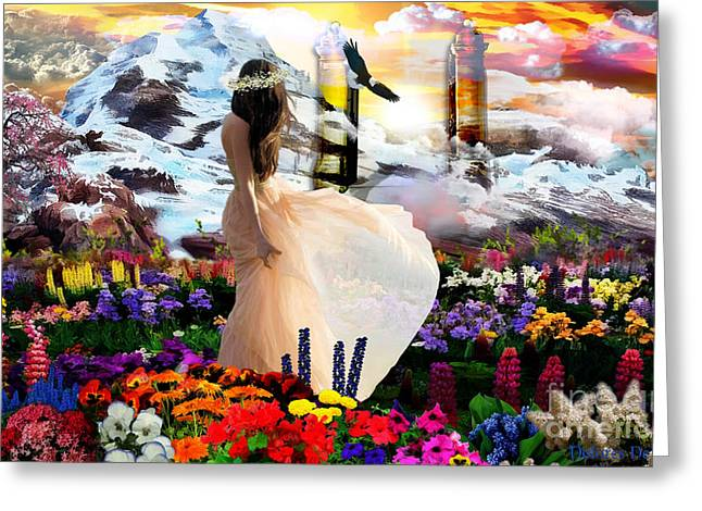 Heavens Gate Greeting Cards - Heavens Gate Greeting Card by Dolores Develde