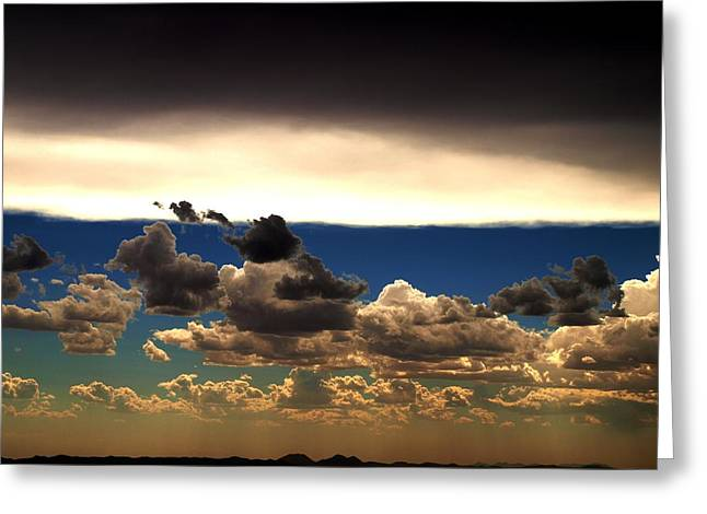 Ying Greeting Cards - Heavens Gates Descend Greeting Card by M Pace