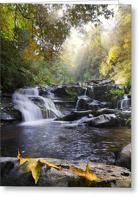 Tennessee River Greeting Cards - Heavens Light Greeting Card by Debra and Dave Vanderlaan