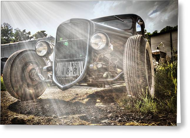 Small Convertible Greeting Cards - Heavens Model T Greeting Card by John Swartz