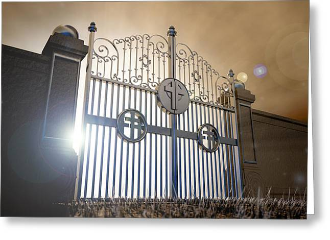 Kingdom Of Heaven Greeting Cards - Heavens Open Gates Greeting Card by Allan Swart