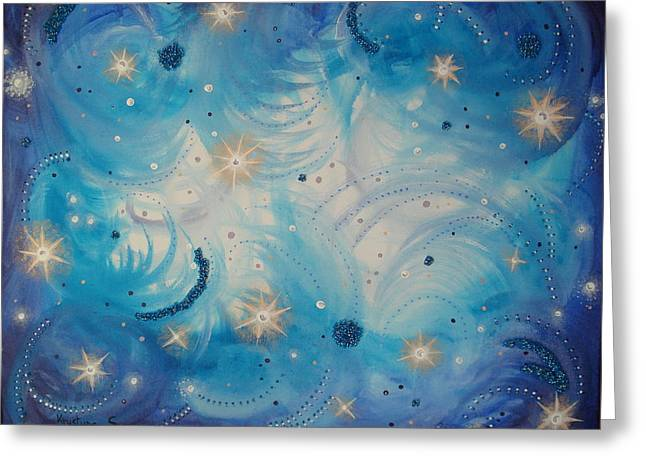 Stary Sky Greeting Cards - Heavens Skys Greeting Card by Krystyna Spink