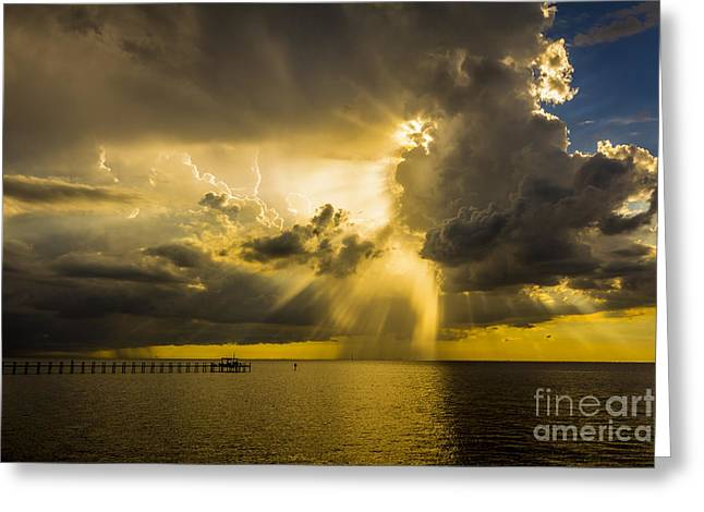 Docked Boats Greeting Cards - Heavens Window Greeting Card by Marvin Spates