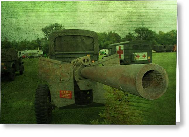 Military Might Greeting Cards - Heavy Artillery In World War 2 Greeting Card by Dan Sproul