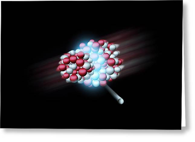 Heavy Atomic Nuclei Colliding, Artwork Greeting Card by Science Photo Library