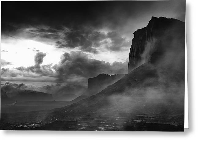 Digital Photography Art Greeting Cards - Heavy Clouds over Mitchell Mesa Greeting Card by Jesse Castellano