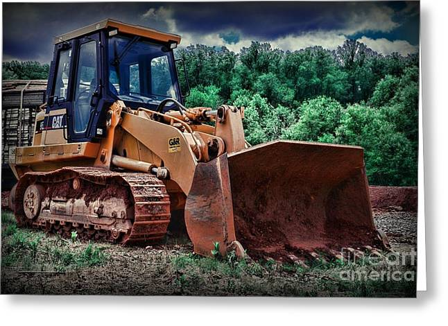 Dozer Greeting Cards - Heavy Construction Equipment - Bulldozer Greeting Card by Paul Ward