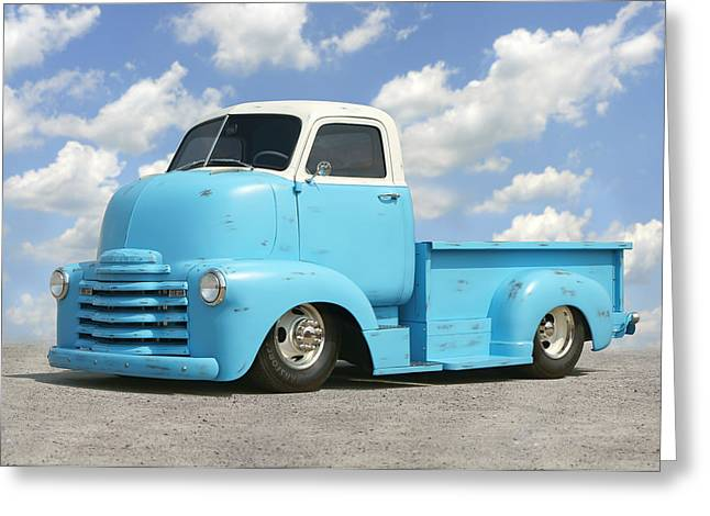 Chevy Pickup Greeting Cards - Heavy Duty Chevy Truck Greeting Card by Mike McGlothlen