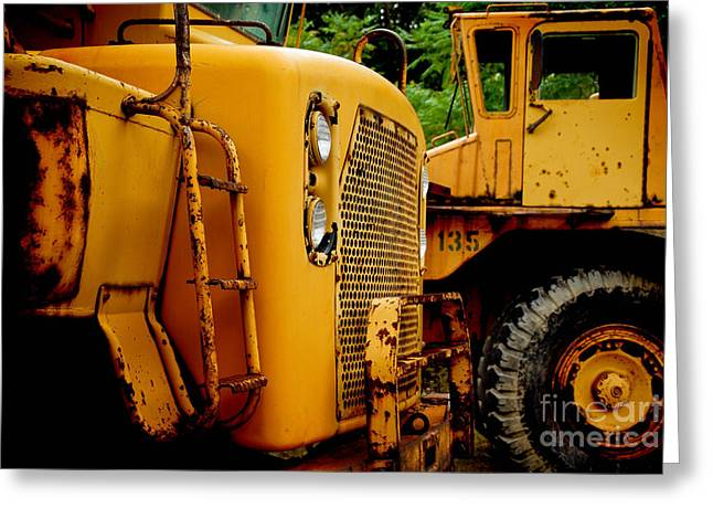 Bulldozer Greeting Cards - Heavy Equipment Greeting Card by Amy Cicconi