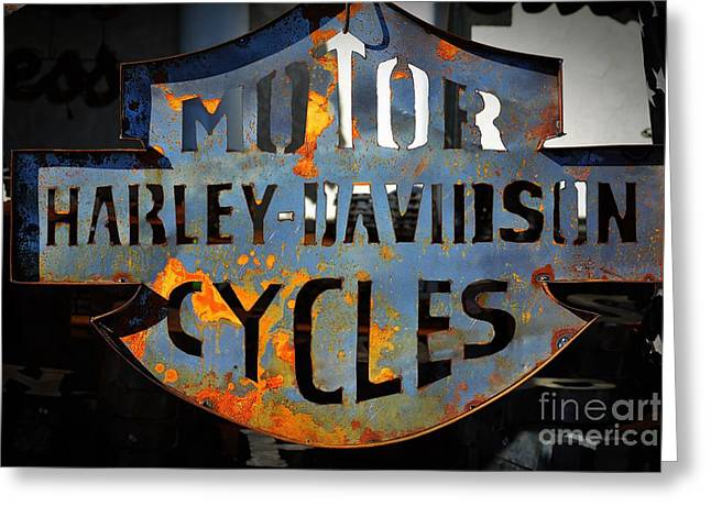 Cut-outs Greeting Cards - Heavy Metal Harley  Greeting Card by JW Hanley