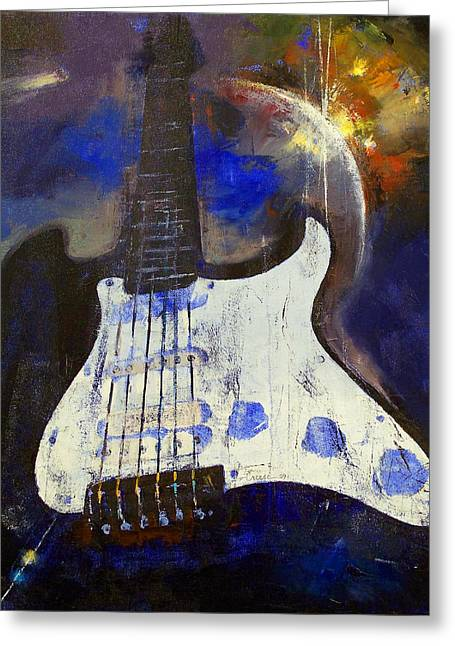 Heavy Metal Greeting Card by Michael Creese