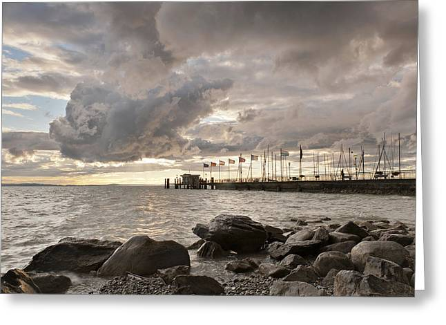Raining Greeting Cards - Heavy sky # 1 Greeting Card by Holger Spiering