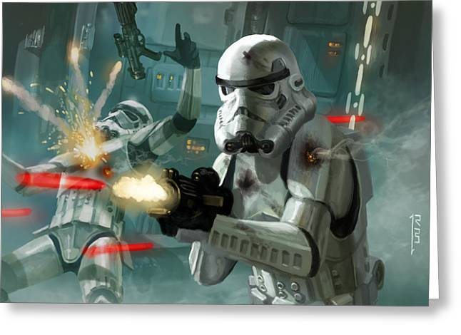Heavy Storm Trooper - Star Wars The Card Game Greeting Card by Ryan Barger
