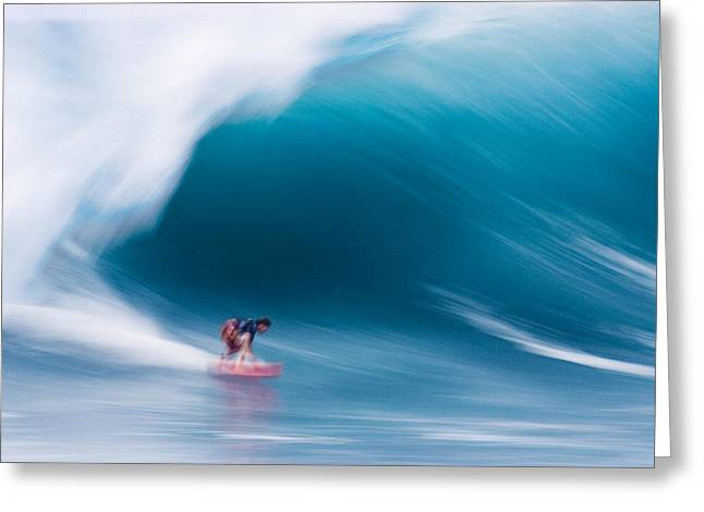 Power Photographs Greeting Cards - Heavy water Speed Greeting Card by Sean Davey