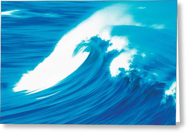 Strength Photographs Greeting Cards - Heavy Waves In Ocean Greeting Card by Panoramic Images