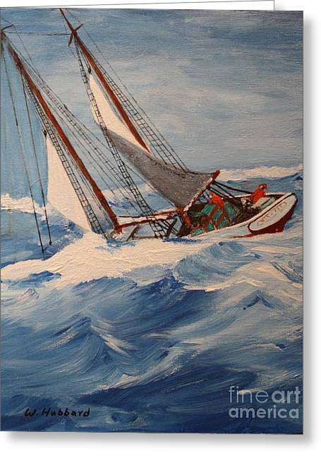 Heavy Weather Greeting Card by Bill Hubbard