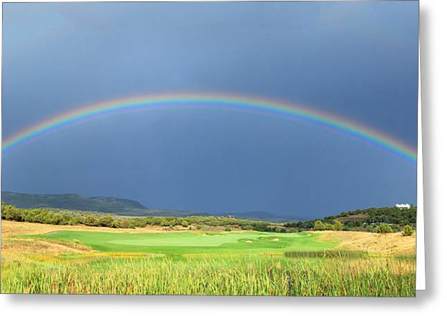 Heber Valley Rainbow Greeting Card by Johnny Adolphson