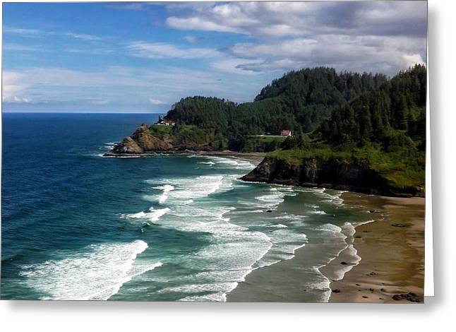Ocean Photography Greeting Cards - Heceta Head Greeting Card by Darren  White
