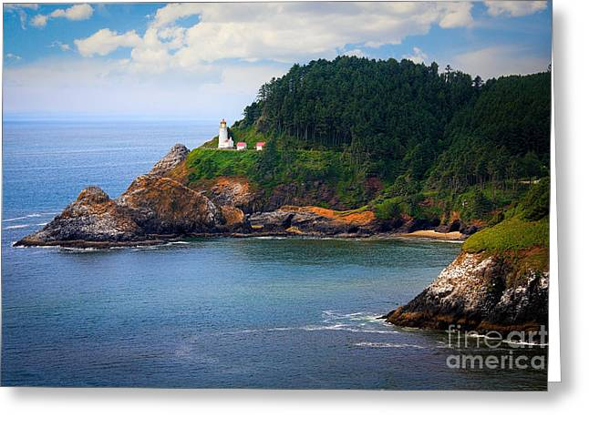 Heceta Head Greeting Card by Inge Johnsson