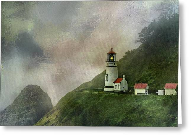 Diane Schuster Greeting Cards - Heceta Head Lighthouse Florence Oregon Greeting Card by Diane Schuster