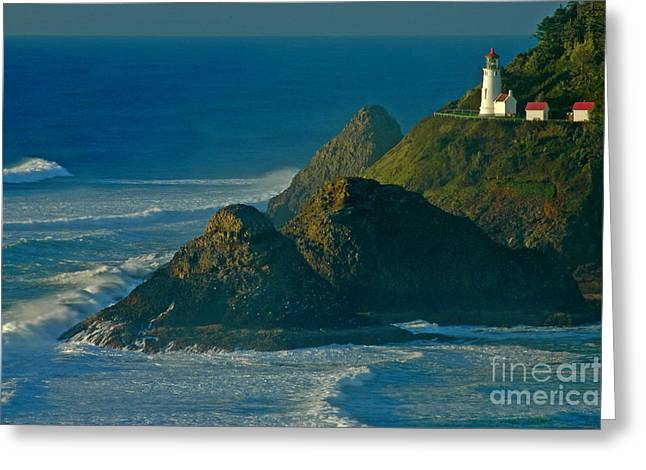 Boren Greeting Cards - Heceta Head Seascape Greeting Card by Nick  Boren