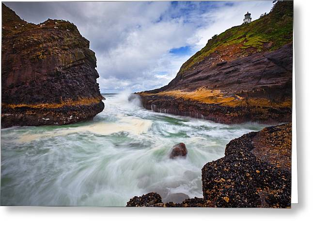 Pacific Northwest Greeting Cards - Heceta Inlet Greeting Card by Darren  White