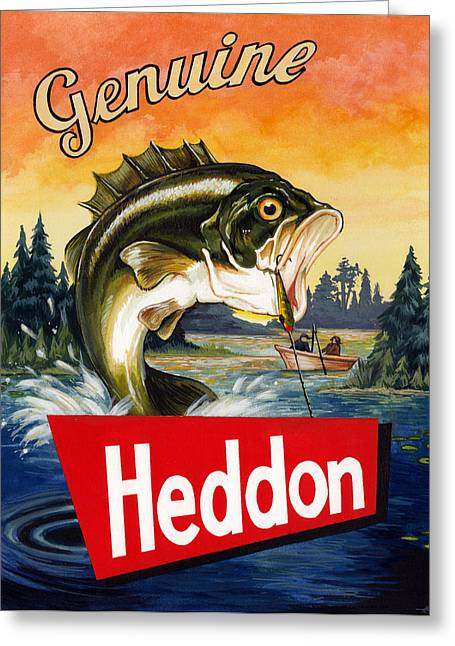 Trout Fishing Greeting Cards - Heddon Lures Greeting Card by Kelly Gilleran