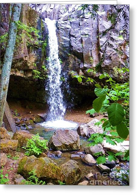 Hedge Creek Greeting Cards - Hedge Creek Falls Greeting Card by Joshua Greeson