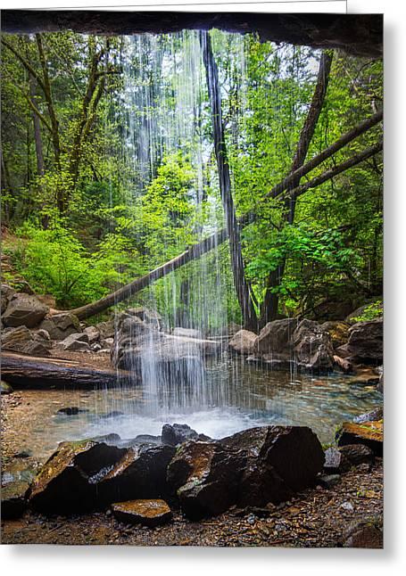 Hedge Creek Greeting Cards - Hedge Creek Falls Greeting Card by Leland D Howard