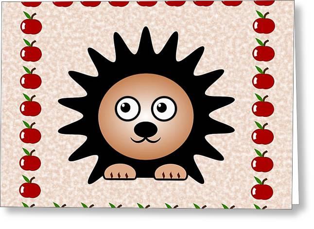 Nursery Theme Greeting Cards - Hedgehog - Animals - Art for Kids Greeting Card by Anastasiya Malakhova