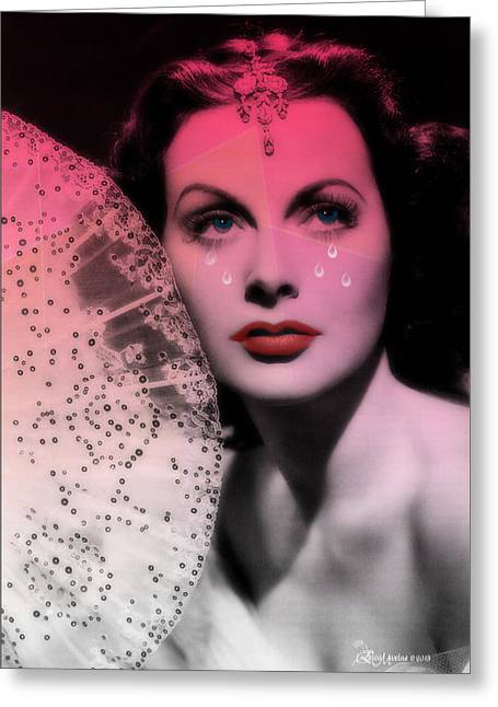 Hedy Greeting Cards - Hedy Lamarr Greeting Card by EricaMaxine  Price