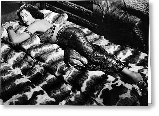 Hedy Greeting Cards - Hedy Lamarr in Samson and Delilah  Greeting Card by Silver Screen