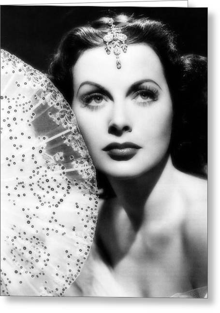 Hedy Greeting Cards - Hedy Lamarr Greeting Card by Mountain Dreams