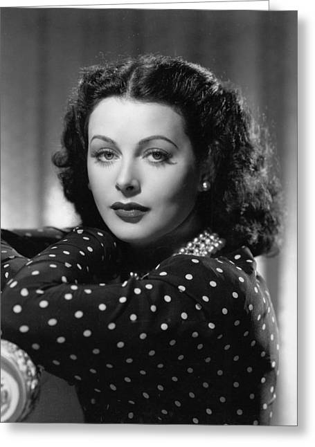 Hedy Greeting Cards - Hedy Lamarr Greeting Card by Silver Screen