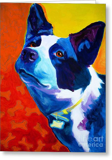 Alicia Vannoy Call Paintings Greeting Cards - Heeler - Piper Greeting Card by Alicia VanNoy Call