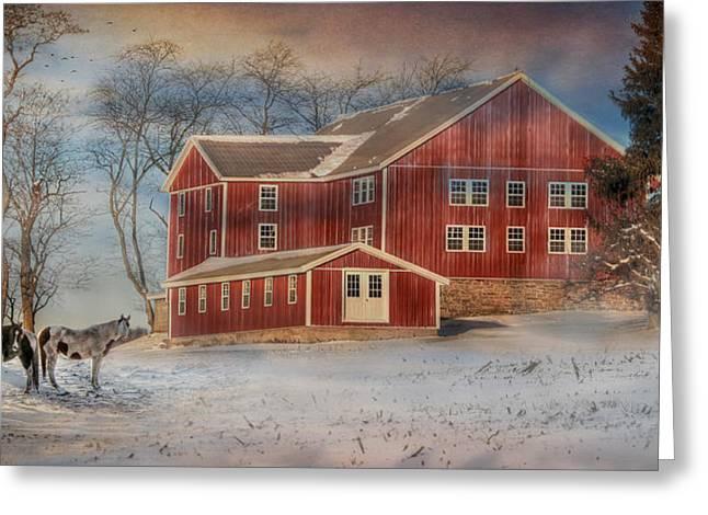 Barn Digital Greeting Cards - Hegins Valley Greeting Card by Lori Deiter
