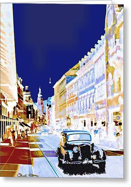 Photo Impressionist Greeting Cards - Heidelberg Rolls Greeting Card by Chuck Staley
