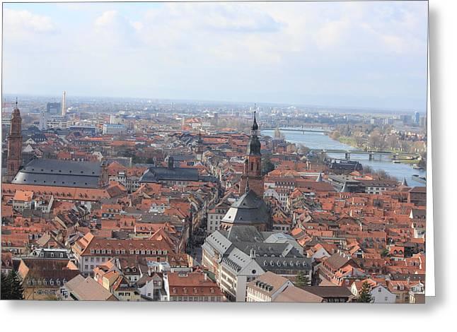 Laura Watts Greeting Cards - Heidelberg The City Greeting Card by Laura Watts