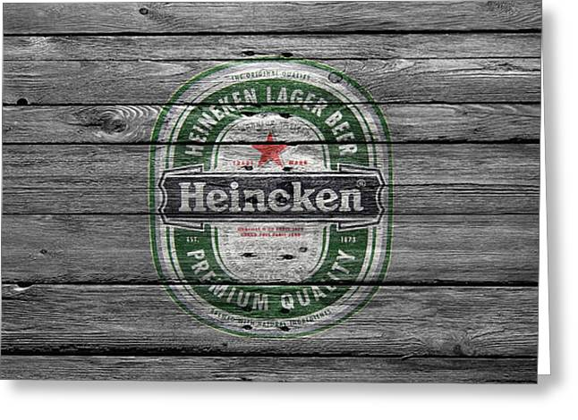 Saloons Greeting Cards - Heineken Greeting Card by Joe Hamilton