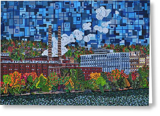 Allegheny Greeting Cards - Heinz Factory - View from 16th Street Bridge Greeting Card by Micah Mullen