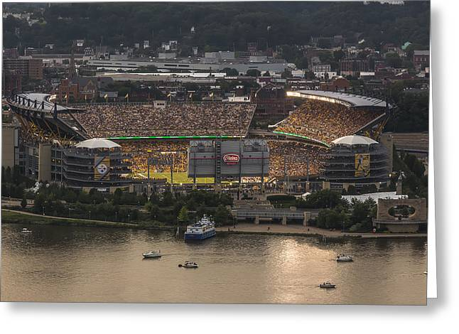 Allegheny Greeting Cards - Heinz Field Greeting Card by Jennifer Grover