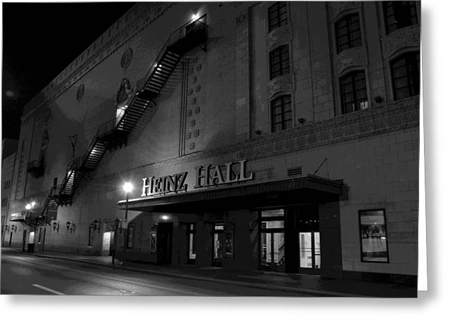 Heinz Hall Greeting Cards - Heinz Hall Street View Greeting Card by Paul Scolieri