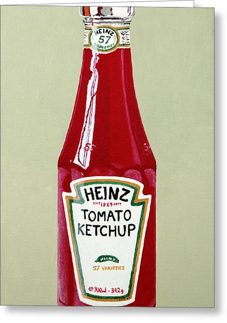 Heinz Ketchup Greeting Cards - Heinz Ketchup Greeting Card by Alacoque Doyle