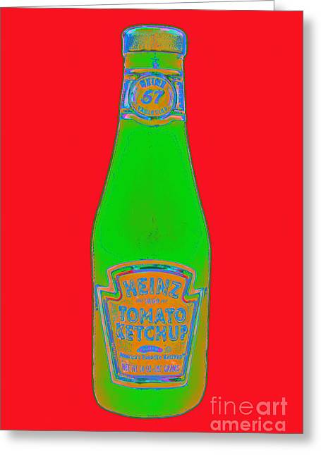 Heinz Ketchup Greeting Cards - Heinz Tomato Ketchup 20130402 Greeting Card by Wingsdomain Art and Photography