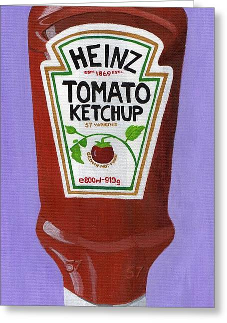 Heinz Ketchup Greeting Cards - Heinz Tomato Ketchup Greeting Card by Bav Patel
