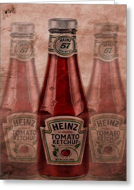 French Fries Greeting Cards - Heinz Tomato Ketchup Greeting Card by Dan Sproul