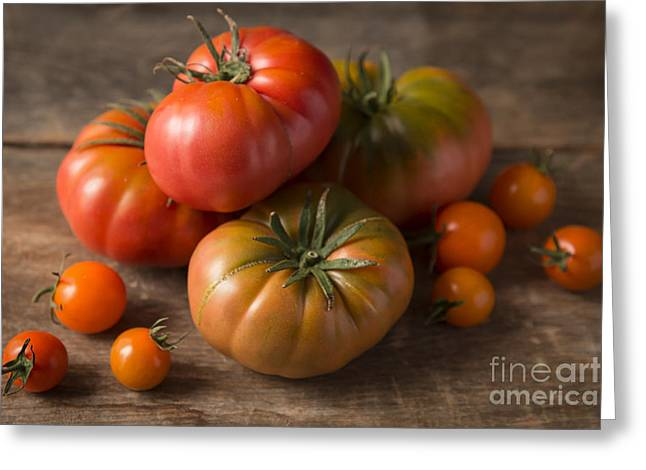 Heirlooms Greeting Cards - Heirloom Tomatoes Greeting Card by Ana V  Ramirez