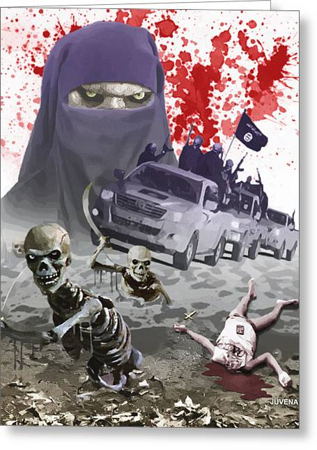 Terrorist Greeting Cards - Heirs of Mohammed Greeting Card by Joseph Juvenal