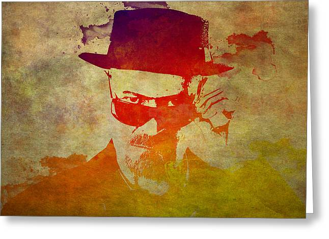 Heisenberg Prints Greeting Cards - Heisenberg -10 Greeting Card by Chris Smith